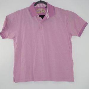 Robert Graham Mens Pink Polo Shirt Size XL